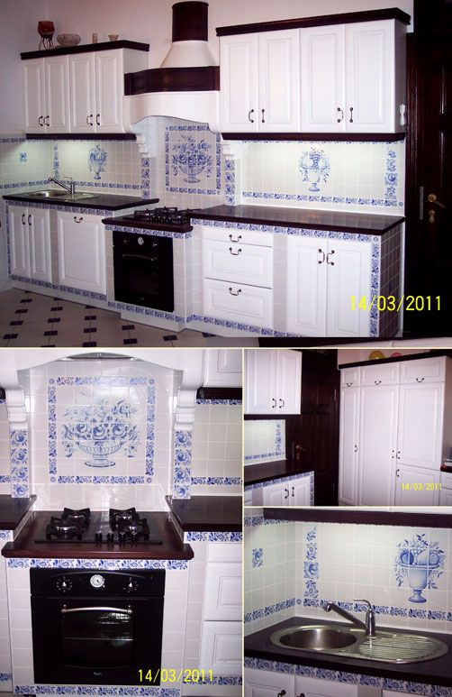 decors in the old style, the cobalt