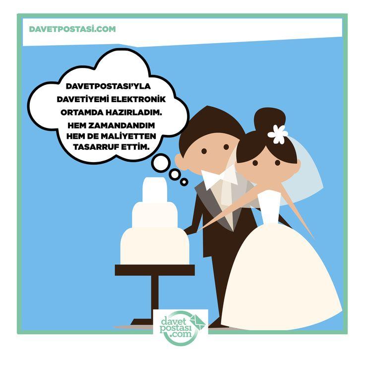 Düğün davetiyelerinizi elektronik ortamda hazırlayın, hem zamandan hem de maliyetten tasarruf edin. Detaylar: www.davetpostasi.com #düğün #davetiye #davetpostasi