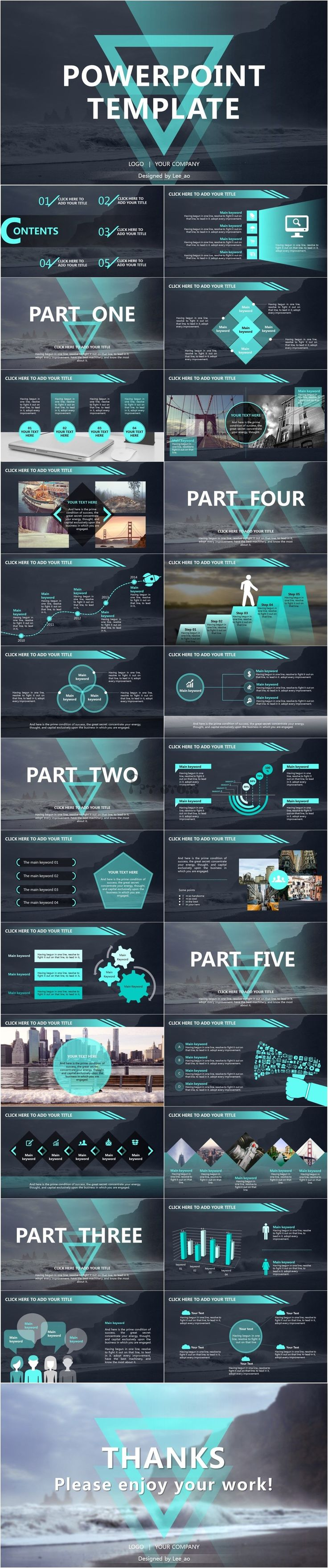 best 25+ modern powerpoint design ideas on pinterest | power point, Powerpoint templates