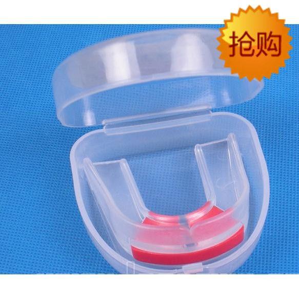 打折清倉高檔盒裝雙層透明護齒(牙套)拳擊護具 特價散打搏擊