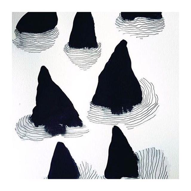 Ink and watercolor by Emma Larsson  @zebrakadebra