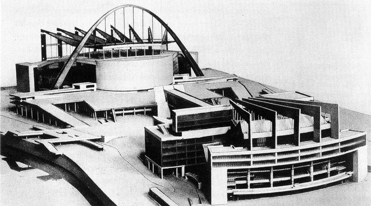 Ле Корбюзье, конкурсный проект Дворца Советов для Москвы, 1931