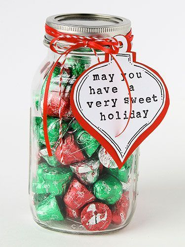 Holiday Gift Ideas - 25 Amazing Mason Jar Gifts. If you don't know what to get your relatives for Christmas, we found a solution for you. It's safe to assume you really can't go wrong with a jar of chocolates. Get the full instructions at redbookmag.com