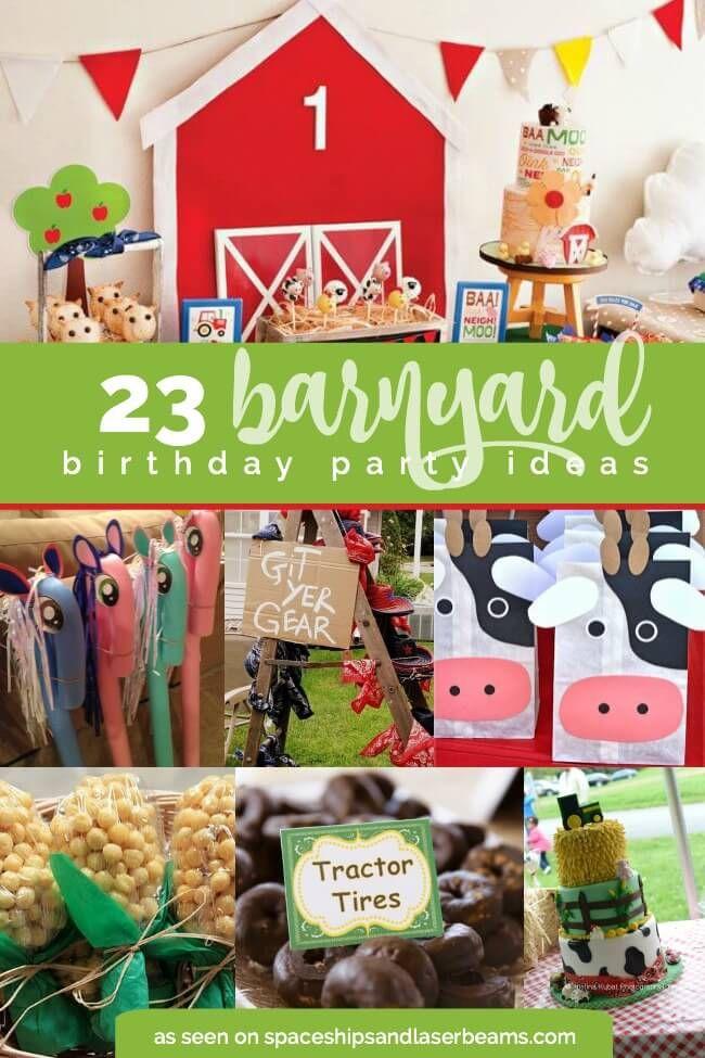 23 Barnyard Birthday Party ideas - great party idea for little boys or girls.