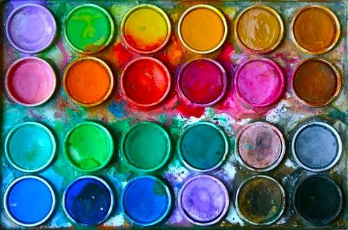 Painting Cans, Painting Art, Colors Palettes, Painting Colors, Painting Palettes, Colours Palettes, Bright Colours, Watercolors Painting, Pan Pastel