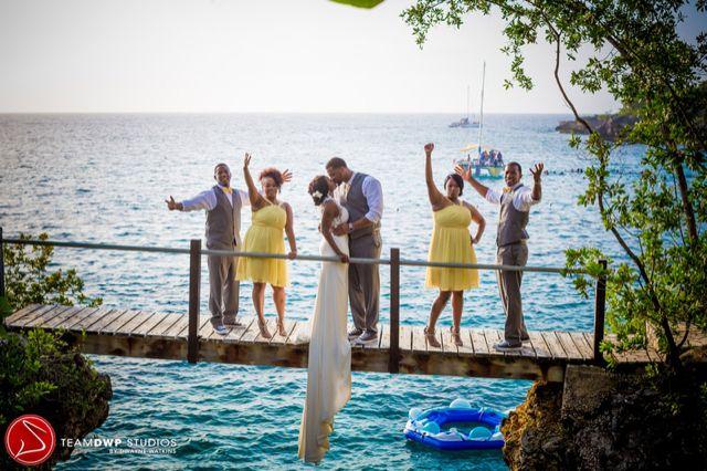 Colorful Destination Wedding In Negril Jamaica After Courthouse I Do Shineva Tyejuan Munaluchi Bridal Magazine Real Weddings Pinterest