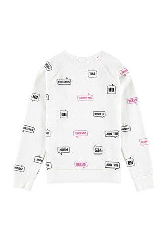 Girls Hello Graphic Pullover (Kids)