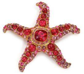 Kenneth Jay Lane Maroon Starfish Pin