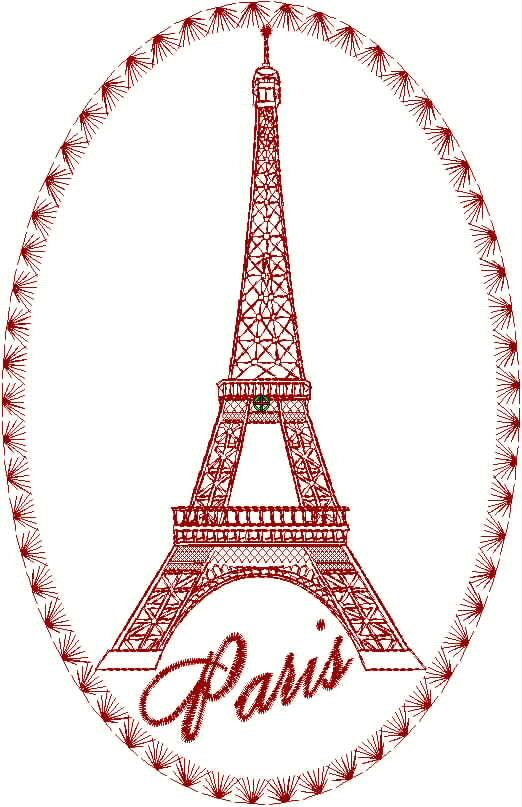 Collection De Design De Broderie Tour Eiffel Tour Eiffel