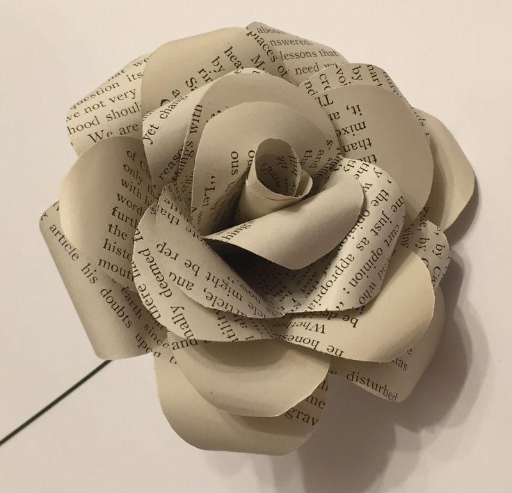 A personal favourite from my Etsy shop https://www.etsy.com/uk/listing/287049925/book-page-paper-rose-paper-roses-gift