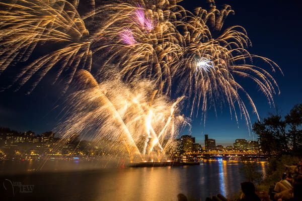 For successful fireworks photography: 1.use a sturdy tripod 2.ISO 100 or 200 3. turn off long exposure noise reduction 4. do not use live view 5. set to manual mode for exposure and F5.6 or F8 for aperture 6. focus the lens ahead of time then turn off AF