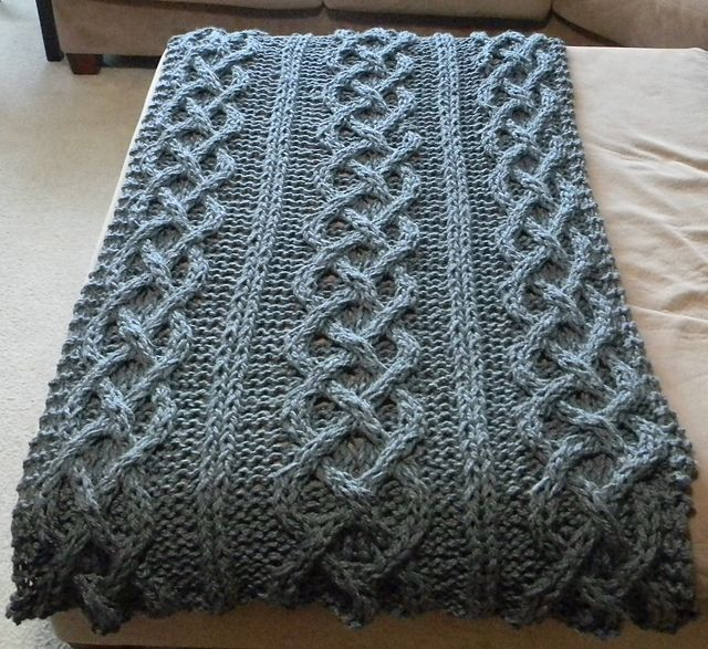 Knitted Blanket Patterns Ravelry : Big Chunky Cable Knit Blanket pattern by Theresa Boyce