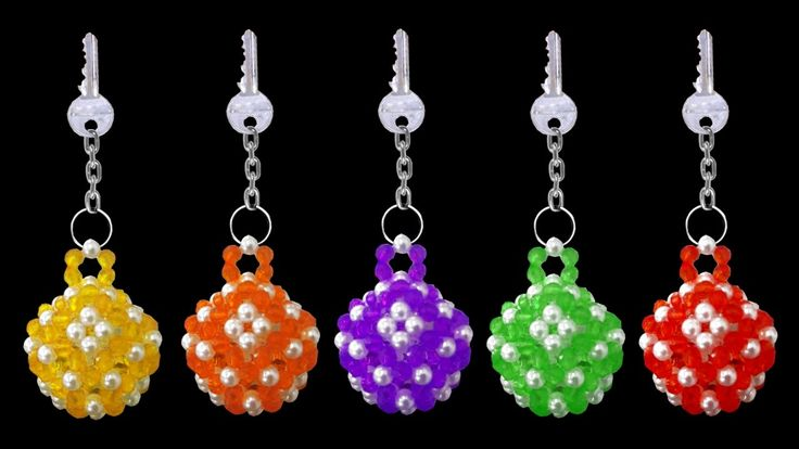 How To Make Crystal Beaded Keychain At Home | DIY Beaded Tutorials