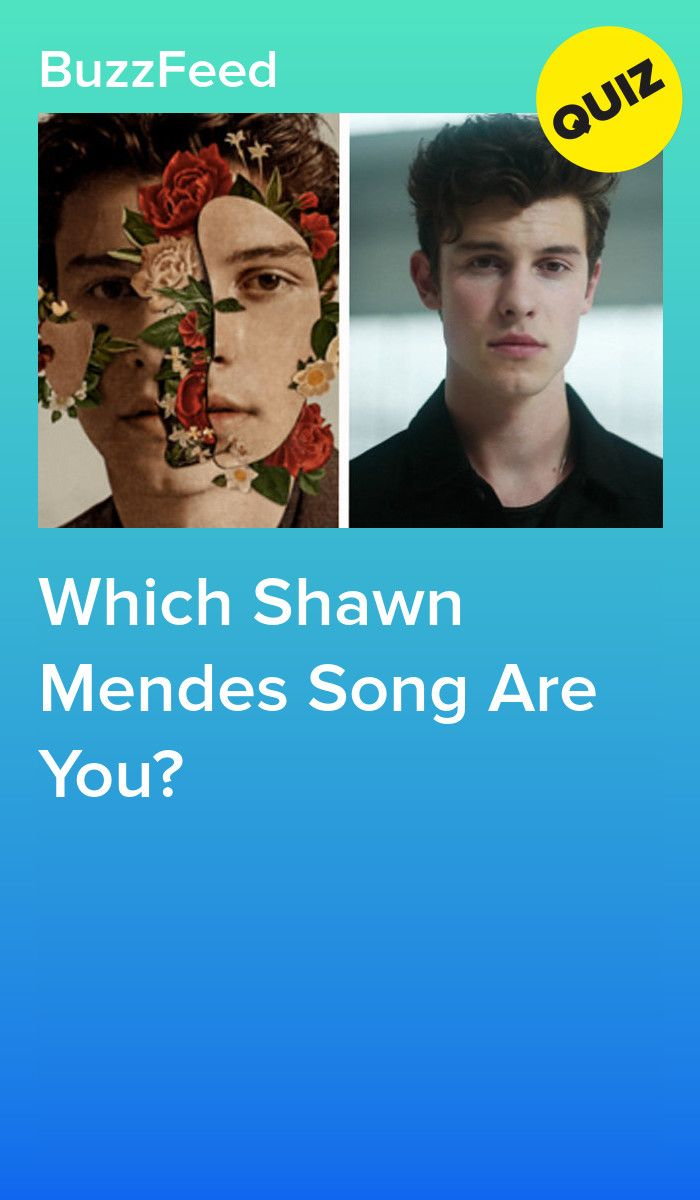 Which Shawn Mendes Song Are You? | Quizzes | Shawn mendes