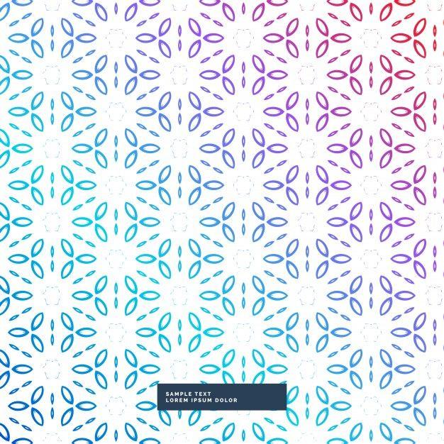 abstracte kleurrijke bloem geometrische patroon achtergrond Gratis Vector