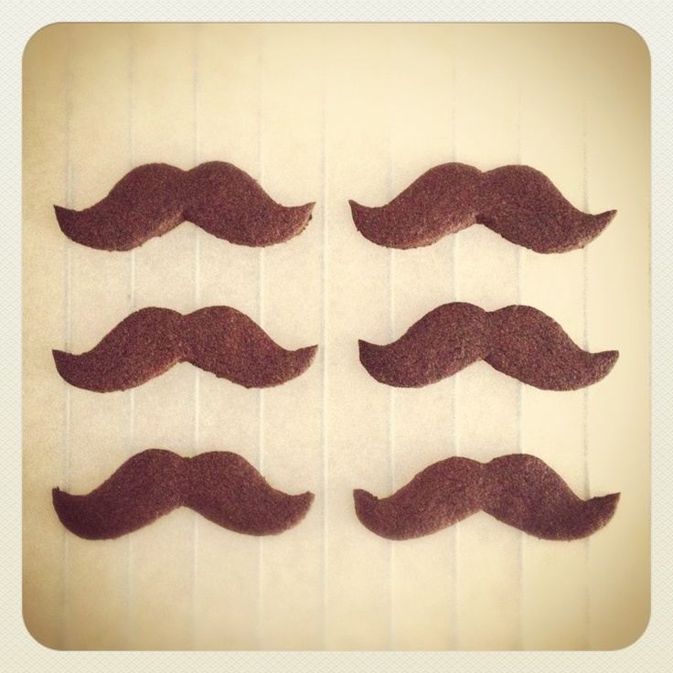 mustache cookie