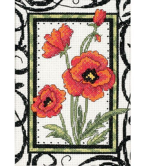 Dimensions® 5''x7'' Counted Cross Stitch-Blooming Poppies