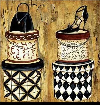 Hatboxes and shoes