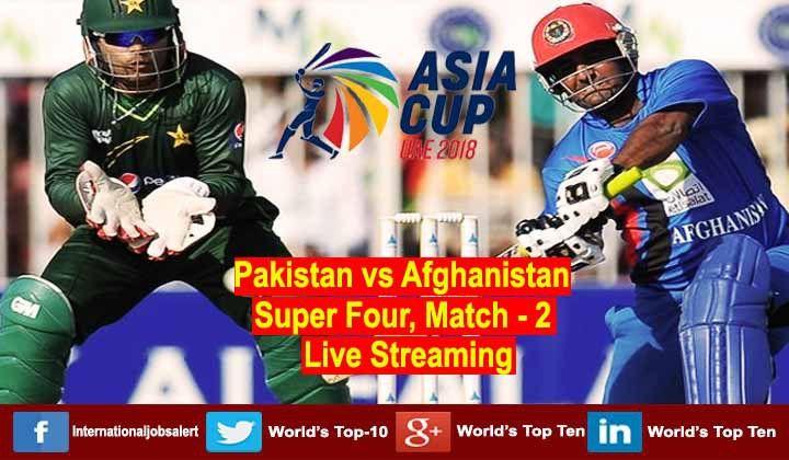 Asia Cup 2018 Super Four, Pakistan vs Afghanistan Live Score