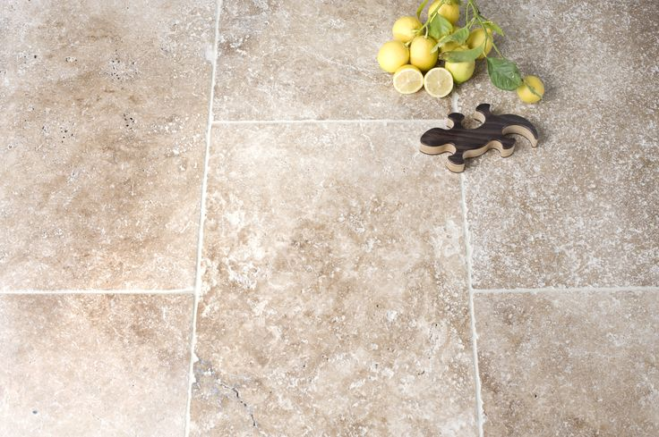 Noce Walnut Tumbled & Unfilled Travertine Tiles