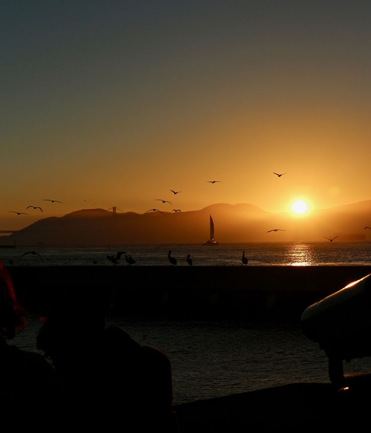 Sunset from Fisherman's Wharf, San Francisco #sf #us