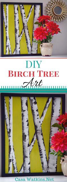 DIY Wall Art Hop Flip Flop: Birch Tree Art