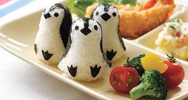 """Diaporama """"15 plats incroyablement et ridiculement visuels inspirés de la cuisine japonaise"""" - Sushis pingouins"""