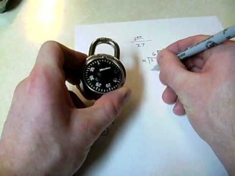 Cracking a combination lock  without picking. SUPER EASY!!!!