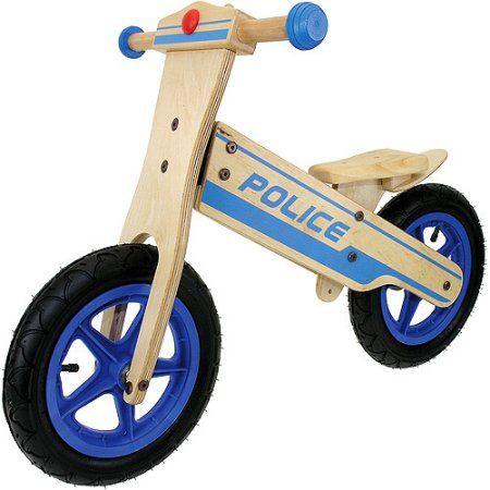Wooden Police Balance Bike $69.31!