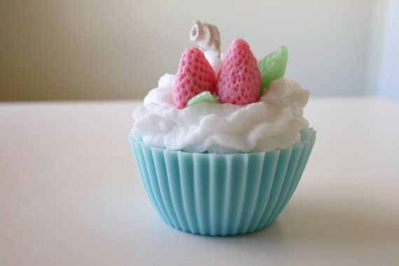 Jumbo Sugar Cookie scented cupcake candle on Etsy, $12.99