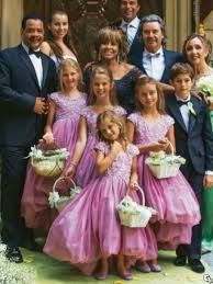 Absolutely adore these flower girl dresses by Versace! Tina Turner sure knows how to throw a beautiful wedding!