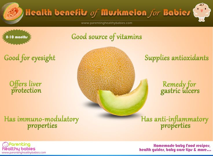 Health Benefits of Muskmelon or Cantaloupe for Babies - ParentingHealthyBabies.com