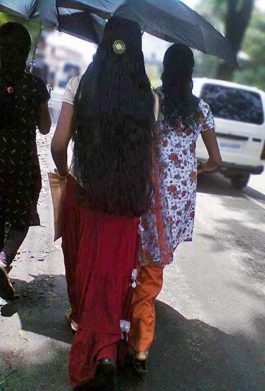 Longest hair in only kerala girls