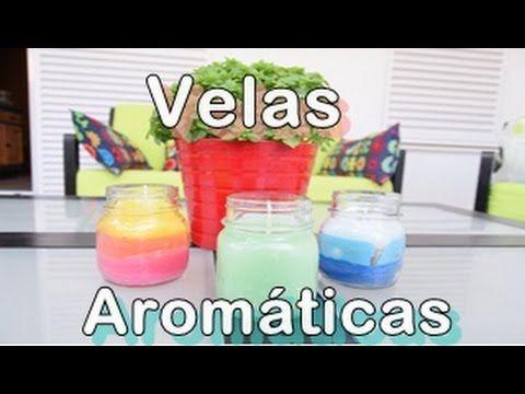 Como hacer velas aromaticas - YouTube