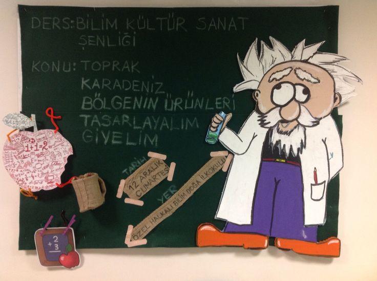 Bilim Kültür Sanat Şenliği Pano (Özel Halkalı Bilim Doğa Okulu)