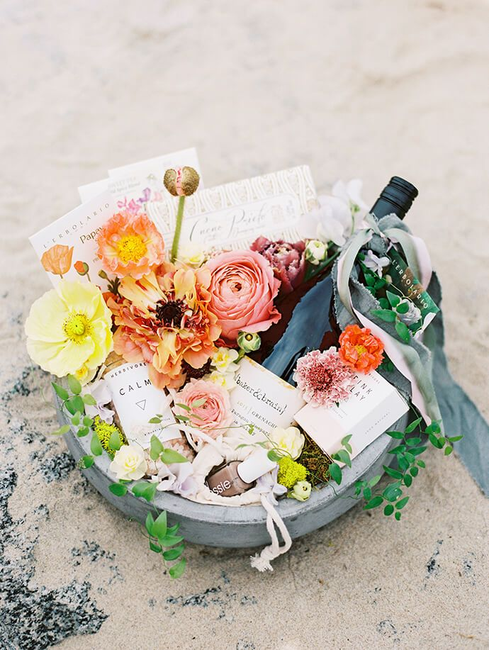 This gorgeous DIY spring basket is the perfect gift for the party hostess.