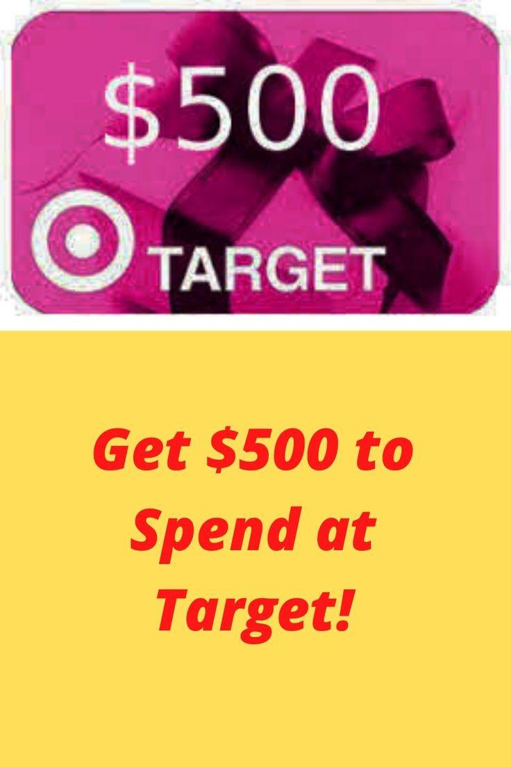 Get 500 to spend at target visa gift card balance