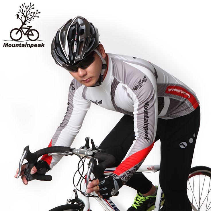 48.79$  Watch here - http://aliuf6.shopchina.info/go.php?t=32752605583 - Mountainpeak and Thin Fleece Cycling Suit Men Long Sleeve Cycling Shorts Bicycle Equipment 48.79$ #buyonline