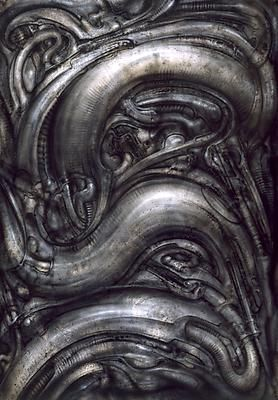 HR Giger. I would love this framed. ANY of his work. One day.