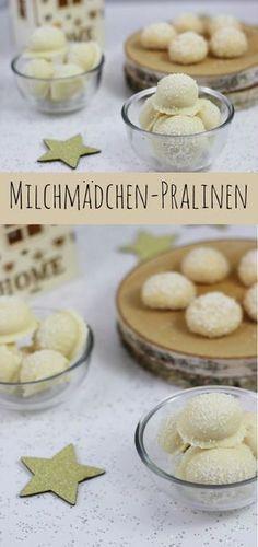 Milchmädchen Pralinen mit Kokos - schnell und einfach #kokos #pralinen #milchmädchen http://www.the-inspiring-life.com/2016/12/rezept-schneebaellchen.html