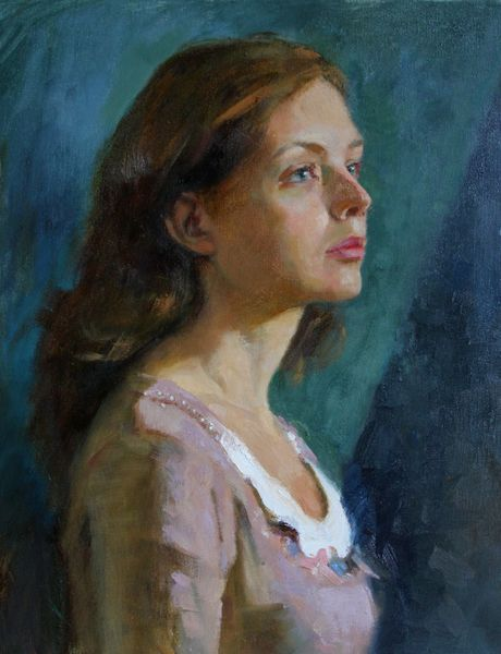 Oil on canvas portrait by Olga Glazunova
