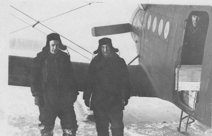 Aeroflot Old Original Photo Airplane An 2 Pilot Arctic Russian North | eBay
