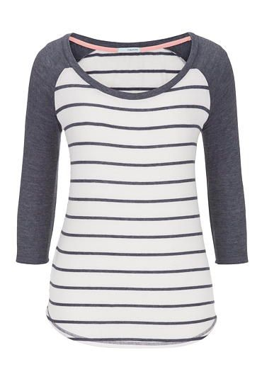 3/4 sleeve striped baseball tee (original price, $26) available at #Maurices 31833