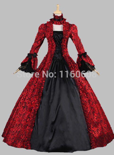 G stage red dress victorian