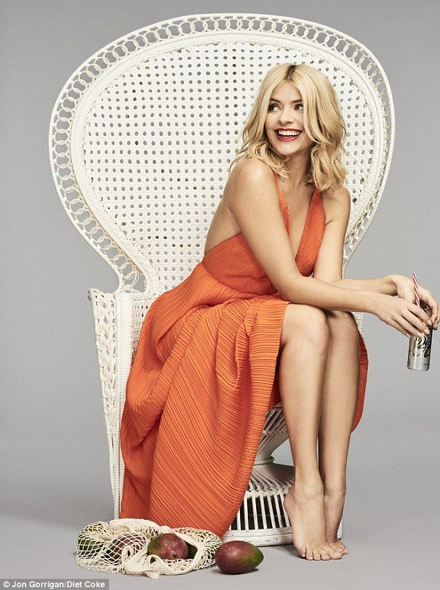 Vibrant: Holly looks radiant in a campaign shoot for Diet Coke, launching their new flavou...