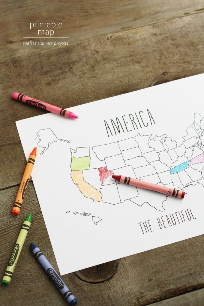 These cute printable maps are perfect for