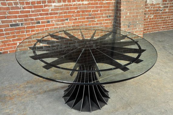 Vintage Industrial Compressor Table by VintageIndustrial on Etsy