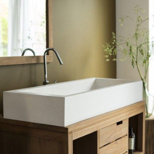 waschbecken terrazzo pegase 100 tikamoon - Doubles Vasques Design