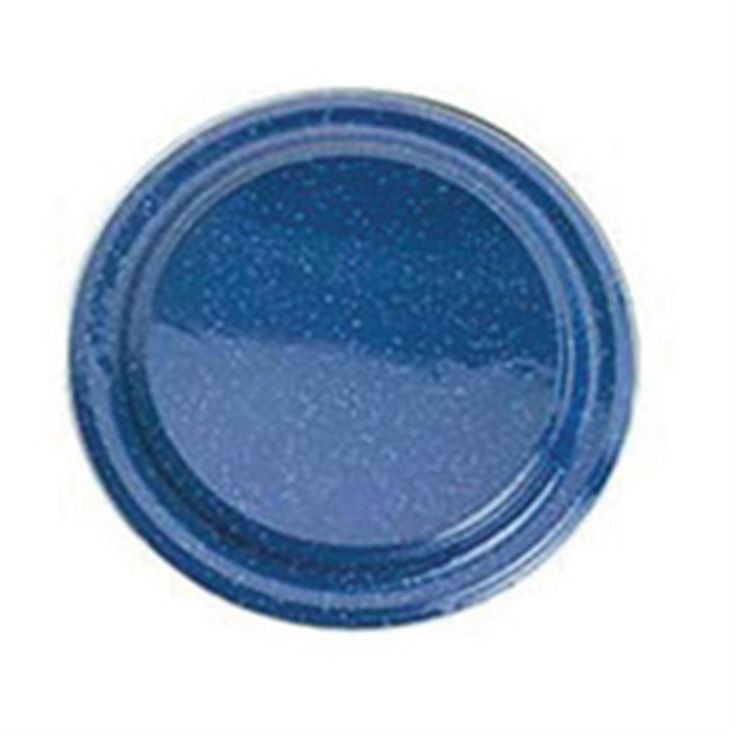 GSI Stainless Steel Rim Enamel Plate, Blue - A little addition to our car camping collections <3MCD<3