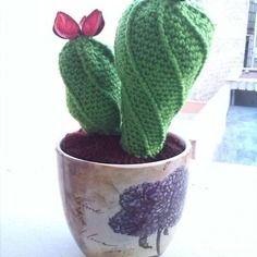 Amigurumi: cactus con fiori profuma-biancheria